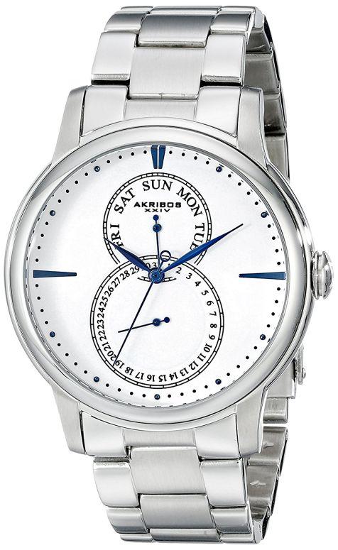 アクリボス Akribos XXIV 男性用 腕時計 メンズ ウォッチ ホワイト AK728SSW 送料無料 【並行輸入品】