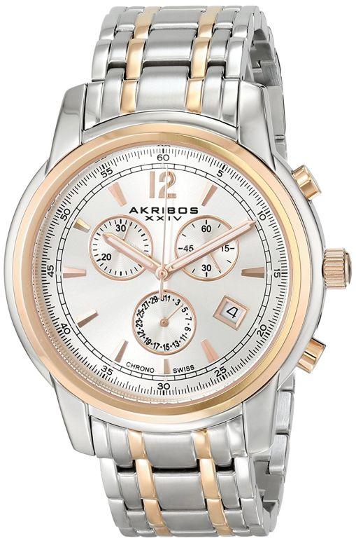 アクリボス Akribos XXIV 男性用 腕時計 メンズ ウォッチ クロノグラフ シルバー AK692TTR 送料無料 【並行輸入品】