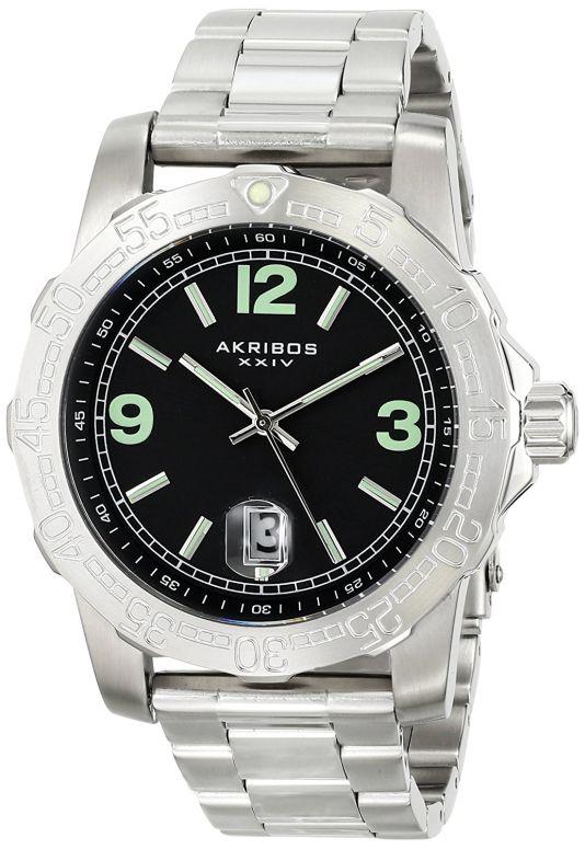 アクリボス Akribos XXIV 男性用 腕時計 メンズ ウォッチ ブラック AK696SSB 送料無料 【並行輸入品】