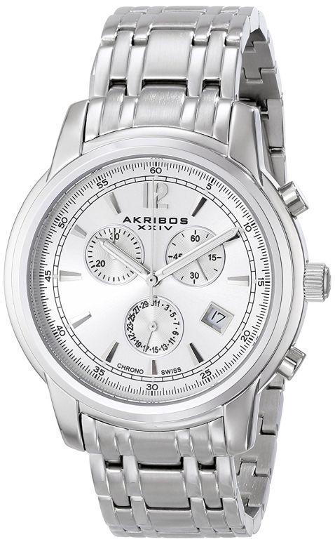 アクリボス Akribos XXIV 男性用 腕時計 メンズ ウォッチ クロノグラフ シルバー AK692SSW 送料無料 【並行輸入品】