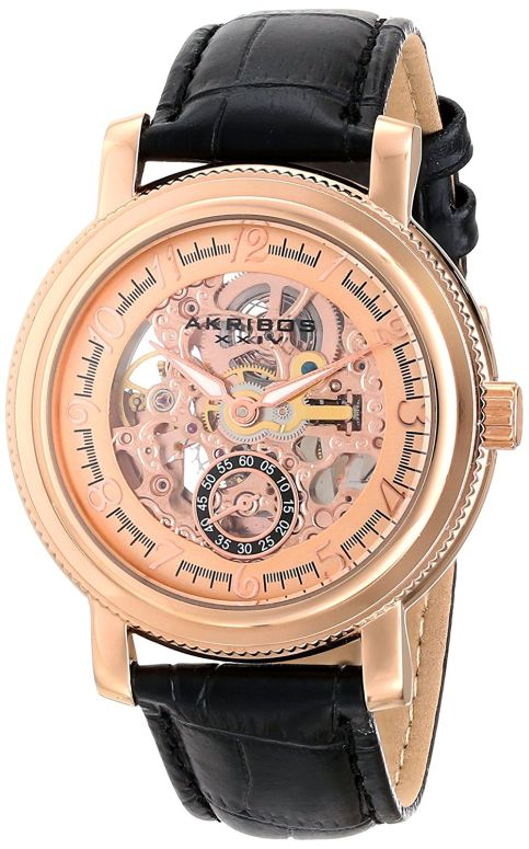 アクリボス Akribos XXIV 男性用 腕時計 メンズ ウォッチ ローズゴールド AK634RG 送料無料 【並行輸入品】