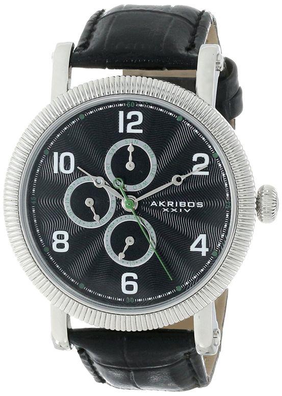 アクリボス Akribos XXIV 男性用 腕時計 メンズ ウォッチ ブラック AK599SS 送料無料 【並行輸入品】