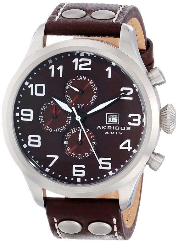 アクリボス Akribos XXIV 男性用 腕時計 メンズ ウォッチ ブラウン AK664BR 送料無料 【並行輸入品】