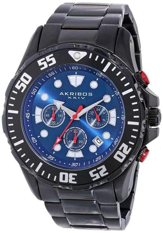 アクリボス Akribos XXIV 男性用 腕時計 メンズ ウォッチ クロノグラフ ブルー AK661BK 送料無料 【並行輸入品】