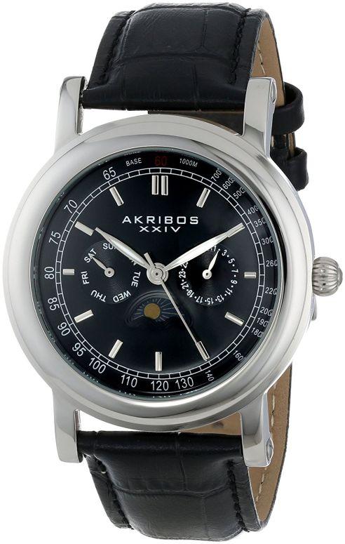 アクリボス Akribos XXIV 男性用 腕時計 メンズ ウォッチ ブラック AK632SSB 送料無料 【並行輸入品】