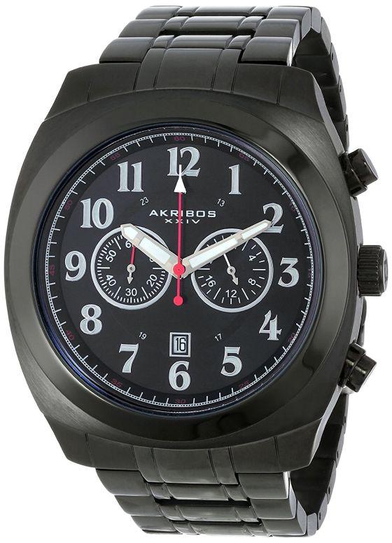 アクリボス Akribos XXIV 男性用 腕時計 メンズ ウォッチ クロノグラフ ブラック AK624BK 送料無料 【並行輸入品】