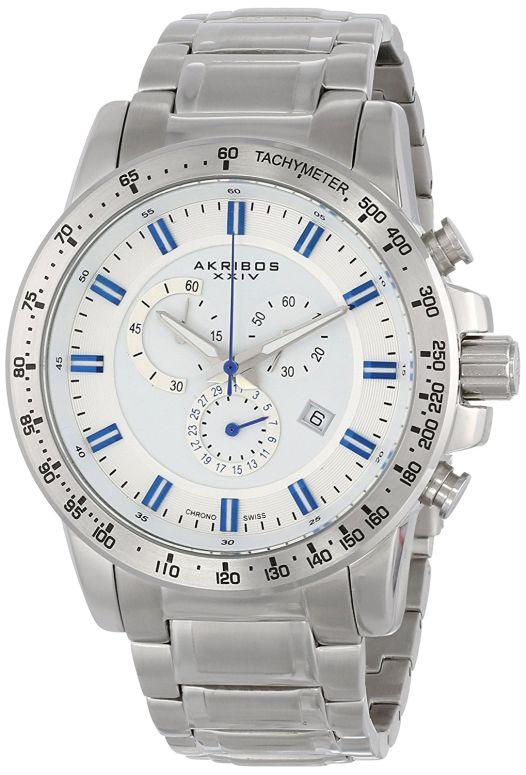 アクリボス Akribos XXIV 男性用 腕時計 メンズ ウォッチ クロノグラフ ホワイト AK649SS 送料無料 【並行輸入品】