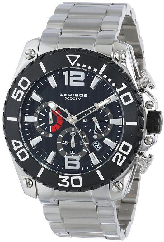 アクリボス Akribos XXIV 男性用 腕時計 メンズ ウォッチ クロノグラフ ブラック AK639BKS 送料無料 【並行輸入品】