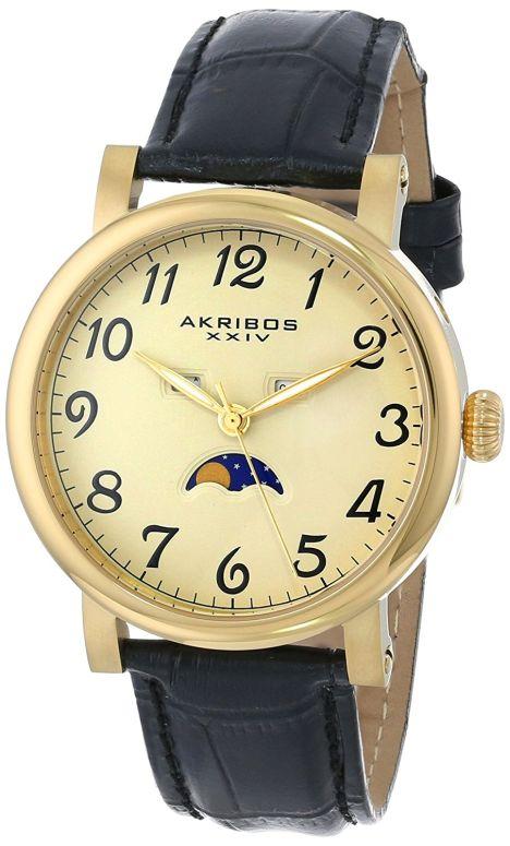 アクリボス Akribos XXIV 男性用 腕時計 メンズ ウォッチ シャンパン AK633YG 送料無料 【並行輸入品】