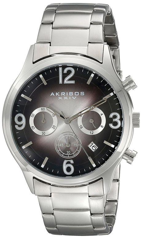 アクリボス Akribos XXIV 男性用 腕時計 メンズ ウォッチ クロノグラフ ブラック AK607BK 送料無料 【並行輸入品】