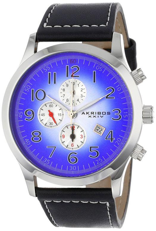 アクリボス Akribos XXIV 男性用 腕時計 メンズ ウォッチ クロノグラフ ブルー AK603BU 送料無料 【並行輸入品】