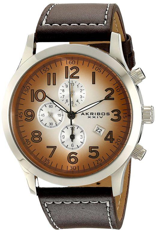 アクリボス Akribos XXIV 男性用 腕時計 メンズ ウォッチ クロノグラフ ブラウン AK603BR 送料無料 【並行輸入品】