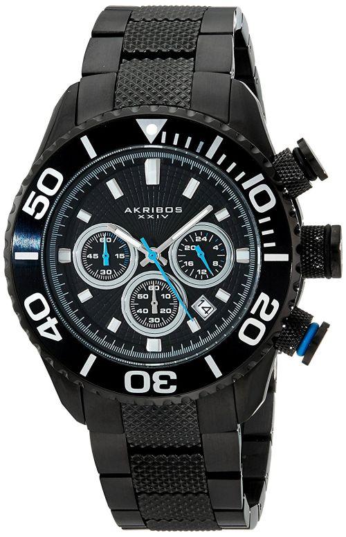 アクリボス Akribos XXIV 男性用 腕時計 メンズ ウォッチ クロノグラフ ブラック AK512BK 送料無料 【並行輸入品】