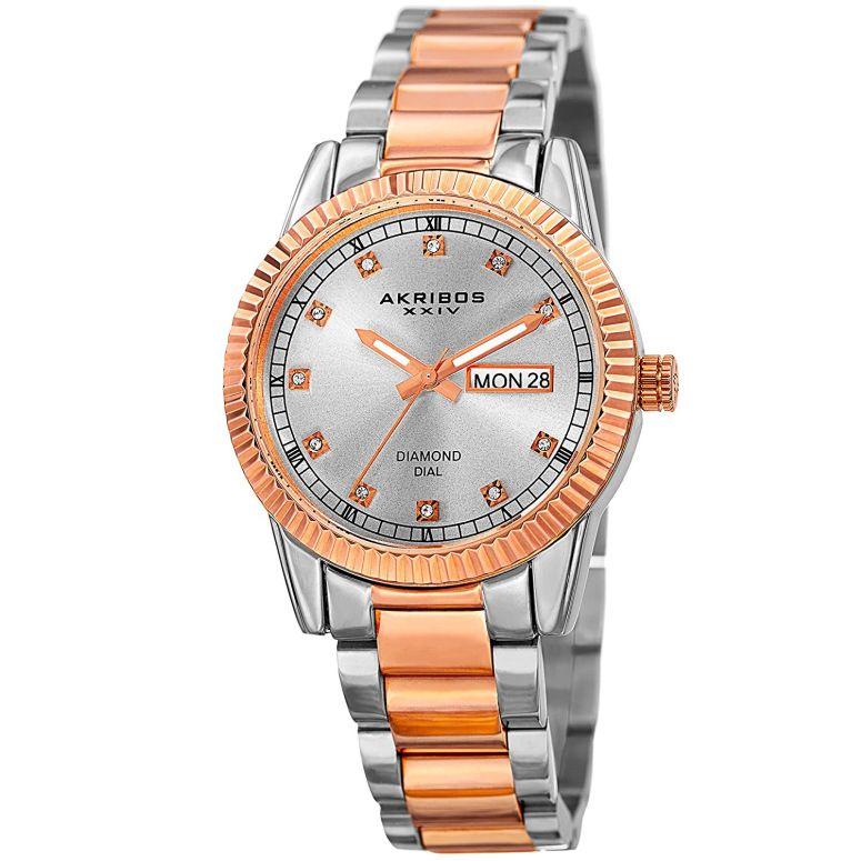 アクリボス Akribos XXIV 女性用 腕時計 レディース ウォッチ ゴールド AK965TTR 送料無料 【並行輸入品】