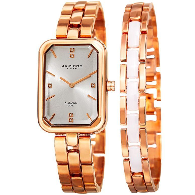 アクリボス Akribos XXIV 女性用 腕時計 レディース ウォッチ シルバー AK995RG 送料無料 【並行輸入品】