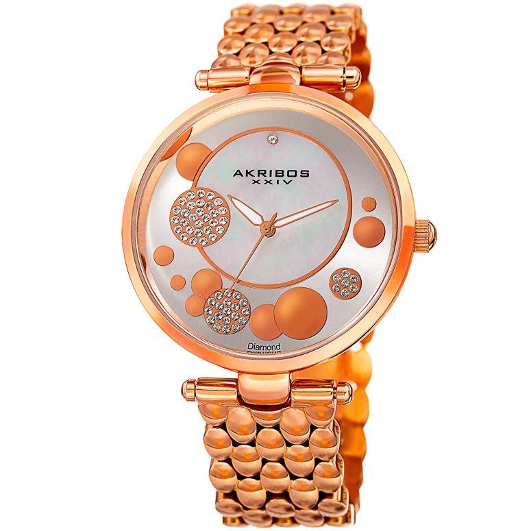アクリボス Akribos XXIV 女性用 腕時計 レディース ウォッチ シルバー AK963RG 送料無料 【並行輸入品】
