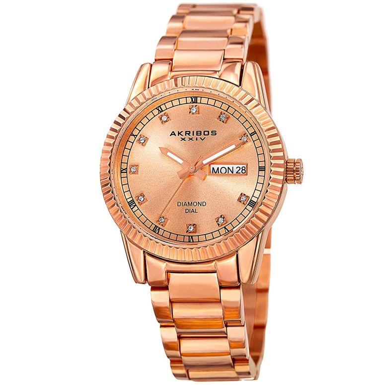 アクリボス Akribos XXIV 女性用 腕時計 レディース ウォッチ ローズゴールド AK965RG 送料無料 【並行輸入品】