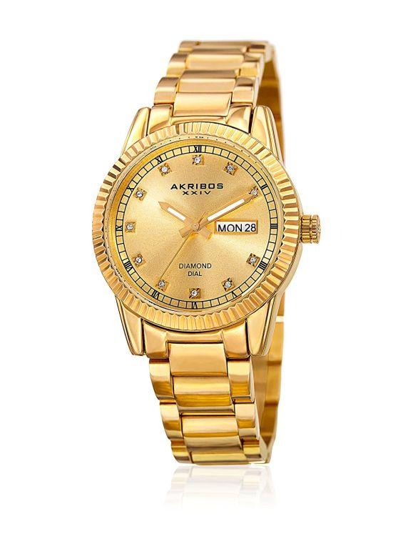 アクリボス Akribos XXIV 女性用 腕時計 レディース ウォッチ ゴールド AK965YG 送料無料 【並行輸入品】