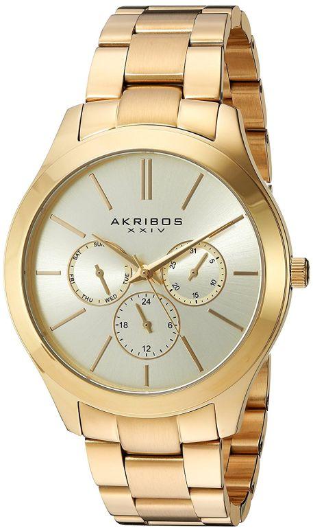 アクリボス Akribos XXIV 女性用 腕時計 レディース ウォッチ ゴールド AK952YG 送料無料 【並行輸入品】