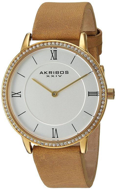 アクリボス Akribos XXIV 女性用 腕時計 レディース ウォッチ ホワイト AK924BR 送料無料 【並行輸入品】