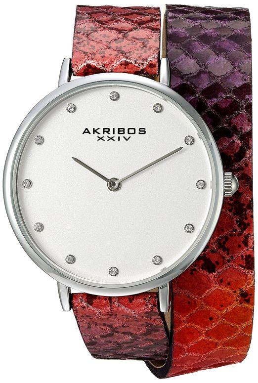 アクリボス Akribos XXIV 女性用 腕時計 レディース ウォッチ シルバー AK923SSPK 送料無料 【並行輸入品】