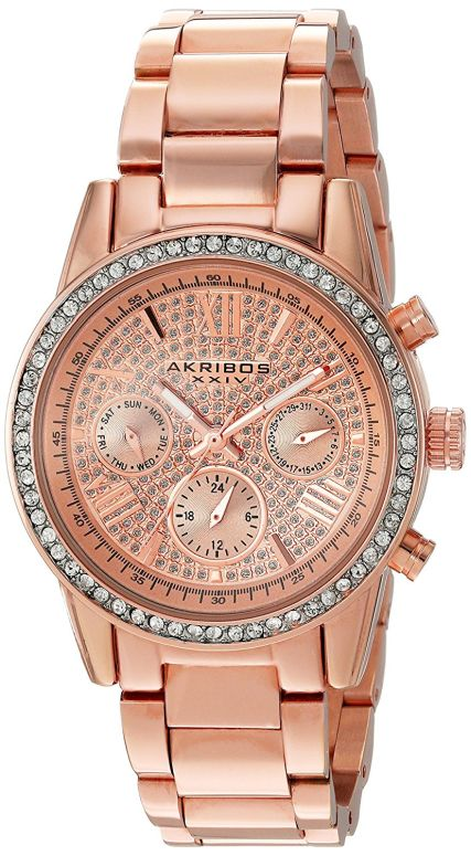 アクリボス Akribos XXIV 女性用 腕時計 レディース ウォッチ ローズゴールド AK926RG 送料無料 【並行輸入品】
