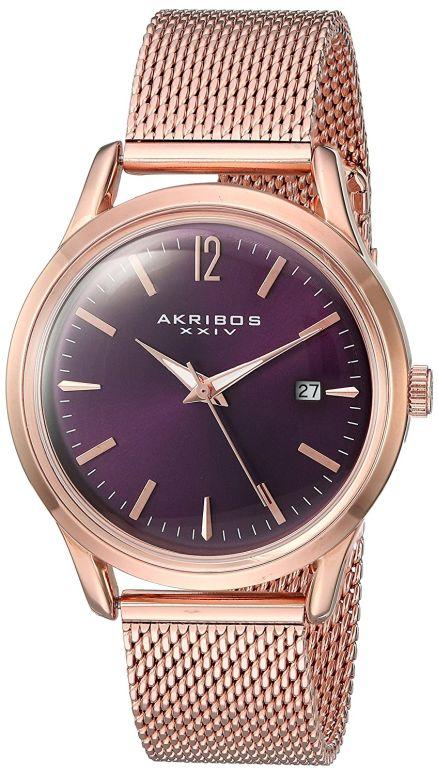 アクリボス Akribos XXIV 女性用 腕時計 レディース ウォッチ パープル AK930PU 送料無料 【並行輸入品】