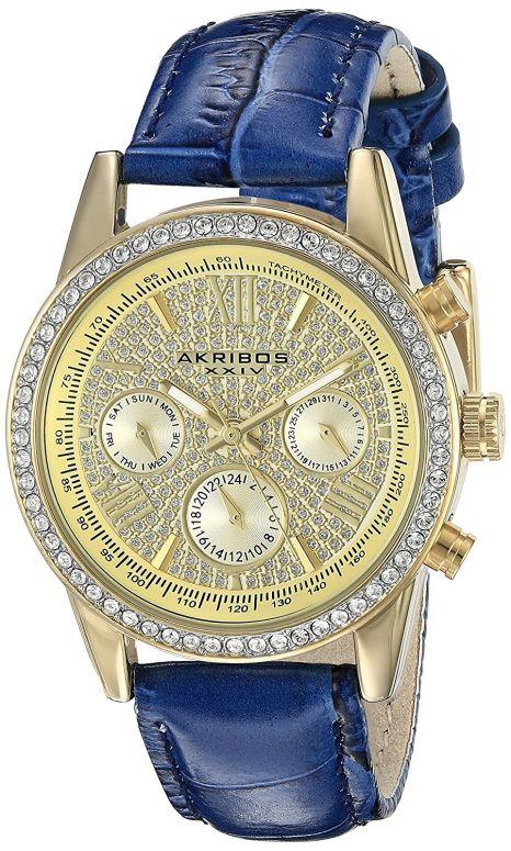 アクリボス Akribos XXIV 女性用 腕時計 レディース ウォッチ イエロー ゴールド AK871BU 送料無料 【並行輸入品】
