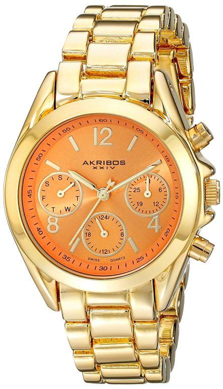 アクリボス Akribos XXIV 女性用 腕時計 レディース ウォッチ オレンジ AK809YGOR 送料無料 【並行輸入品】
