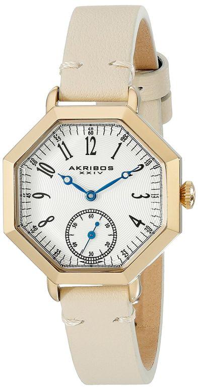 アクリボス Akribos XXIV 女性用 腕時計 レディース ウォッチ ホワイト AK771TN 送料無料 【並行輸入品】