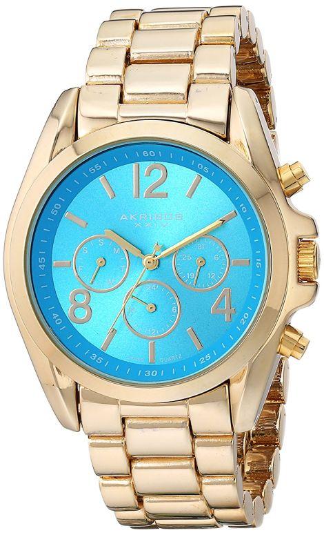 アクリボス Akribos XXIV 女性用 腕時計 レディース ウォッチ グリーン AK760YGTQ 送料無料 【並行輸入品】