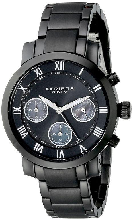 アクリボス Akribos XXIV 女性用 腕時計 レディース ウォッチ クロノグラフ ブラック AK623BK 送料無料 【並行輸入品】