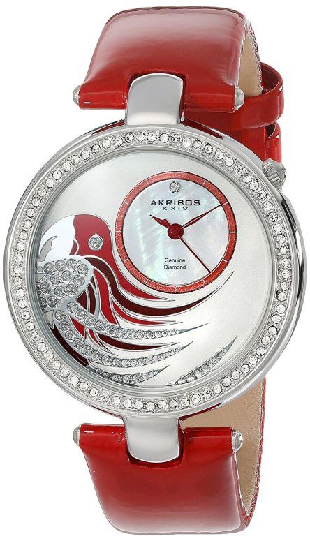 アクリボス Akribos XXIV 女性用 腕時計 レディース ウォッチ ホワイト AK602RD 送料無料 【並行輸入品】