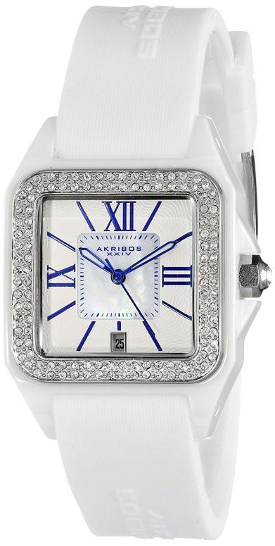 アクリボス Akribos XXIV 女性用 腕時計 レディース ウォッチ ホワイト AK546WT 送料無料 【並行輸入品】