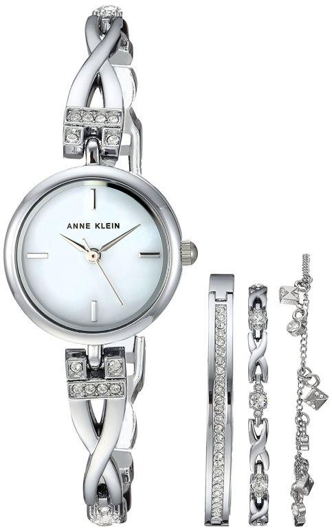 アンクライン Anne Klein 女性用 腕時計 レディース ウォッチ パール AK/3083SVST 送料無料 【並行輸入品】