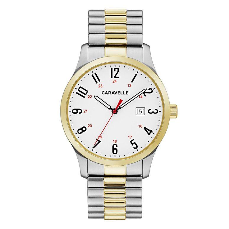 ブローバ Bulova 男性用 腕時計 メンズ ウォッチ ホワイト 45B147 送料無料 【並行輸入品】