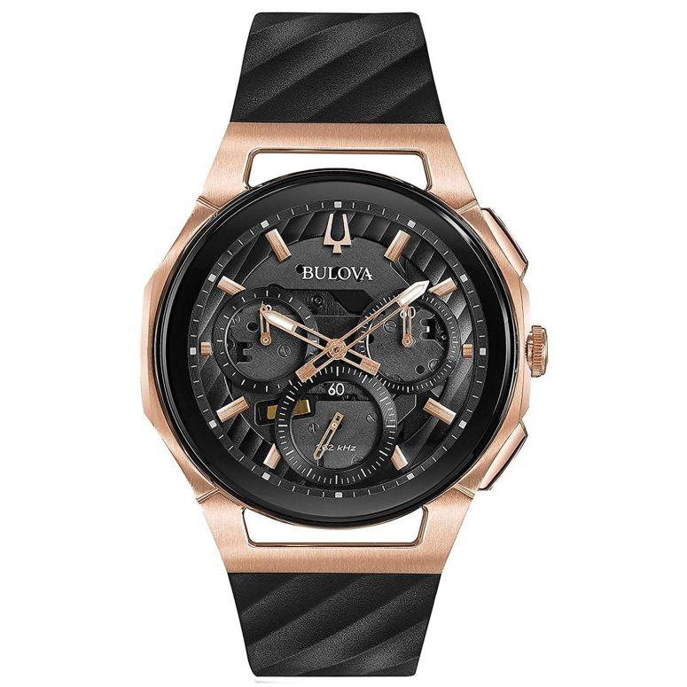 ブローバ Bulova 男性用 腕時計 メンズ ウォッチ クロノグラフ ブラック 98A185 送料無料 【並行輸入品】