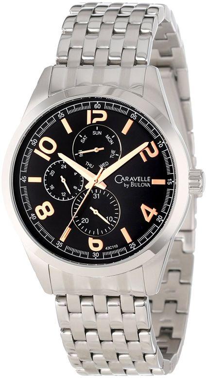 ブローバ Bulova 男性用 腕時計 メンズ ウォッチ ブラック 43C110 送料無料 【並行輸入品】