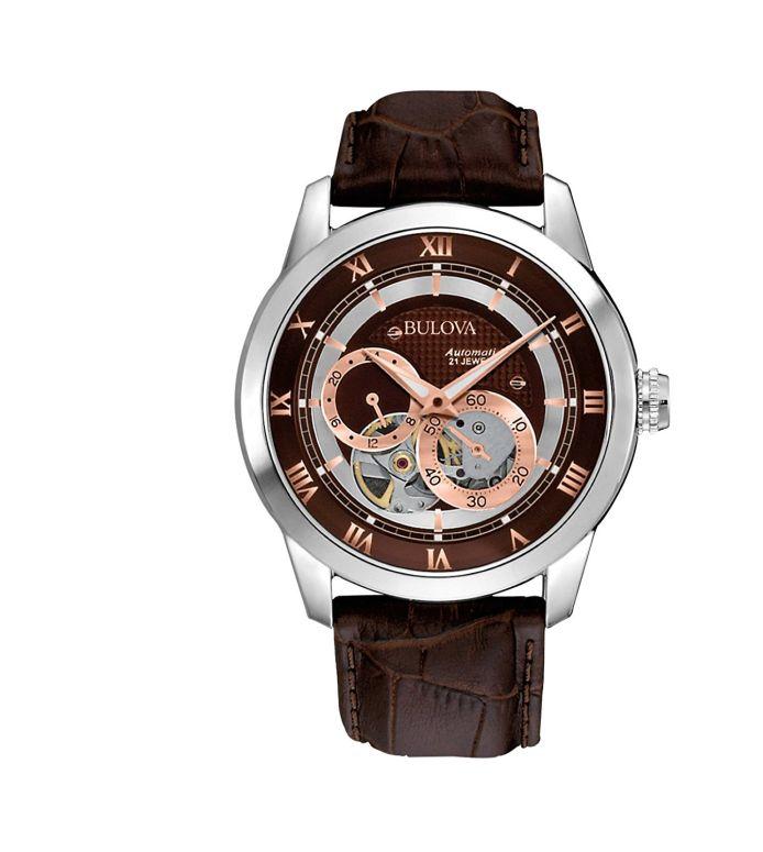 ブローバ Bulova 男性用 腕時計 メンズ ウォッチ ブラウン 96A120 送料無料 【並行輸入品】