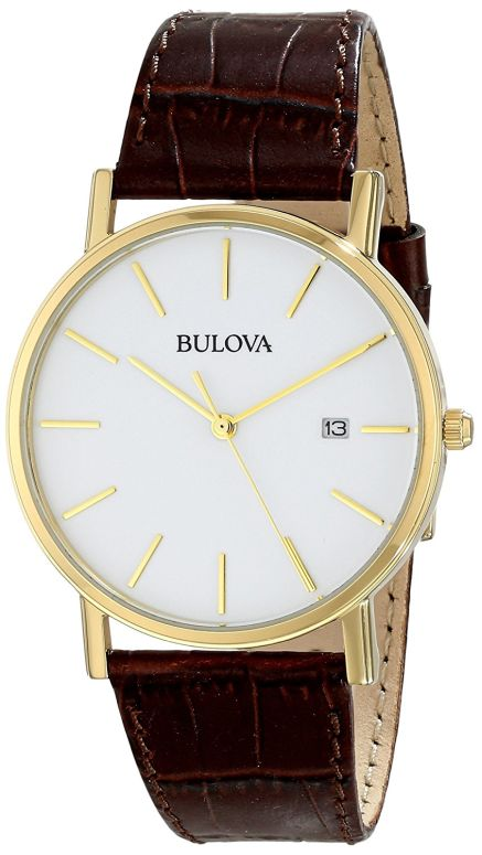 ブローバ Bulova 男性用 腕時計 メンズ ウォッチ ホワイト 97B100 送料無料 【並行輸入品】