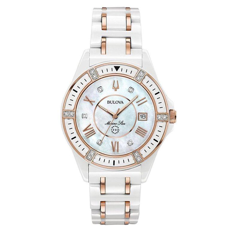 ブローバ Bulova 女性用 腕時計 レディース ウォッチ パール 98R241 送料無料 【並行輸入品】