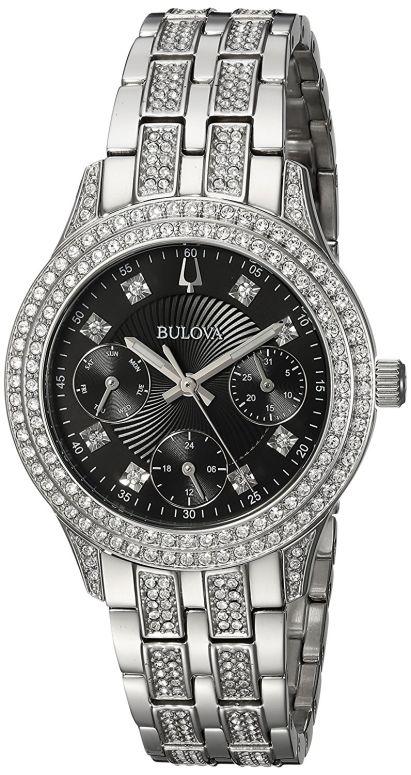 ブローバ Bulova 女性用 腕時計 レディース ウォッチ ブラック 96N110 送料無料 【並行輸入品】