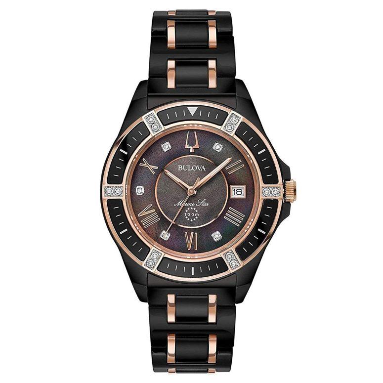 Bulova 98R242 ブラック レディース 腕時計 ブローバ ウォッチ 女性用 送料無料 【並行輸入品】