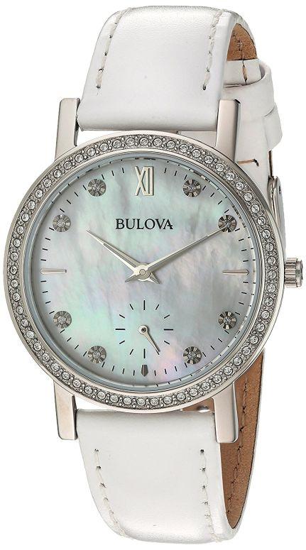 ブローバ Bulova 女性用 腕時計 レディース ウォッチ ホワイト 96L245 送料無料 【並行輸入品】