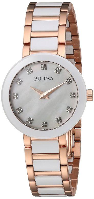 ブローバ Bulova 女性用 腕時計 レディース ウォッチ ホワイト 98P160 送料無料