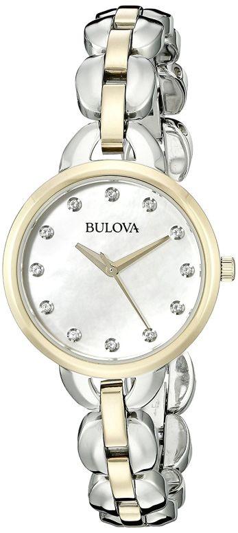 ブローバ Bulova 女性用 腕時計 レディース ウォッチ パール 98L208 送料無料 【並行輸入品】