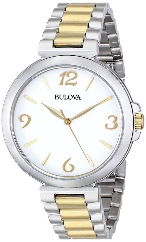 ブローバ Bulova 女性用 腕時計 レディース ウォッチ ホワイト 98L194 送料無料 【並行輸入品】