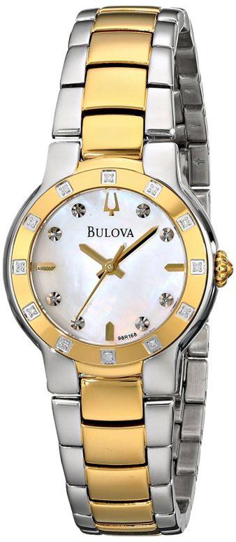 ブローバ Bulova 腕時計 オンライン限定商品 ウォッチ 時計 ニューヨーク 98R168 期間限定で特別価格 送料無料 パール 女性用 並行輸入品 レディース