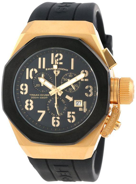 スイスレジェンド Swiss Legend 男性用 腕時計 メンズ ウォッチ クロノグラフ ブラック 10542-YG-01-BB 送料無料 【並行輸入品】