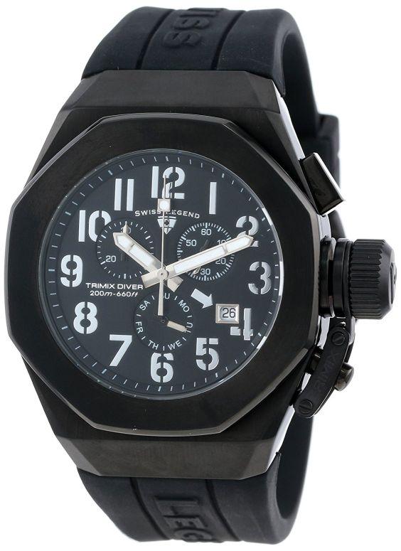 スイスレジェンド Swiss Legend 男性用 腕時計 メンズ ウォッチ クロノグラフ ブラック 10542-BB-01-SA 送料無料 【並行輸入品】